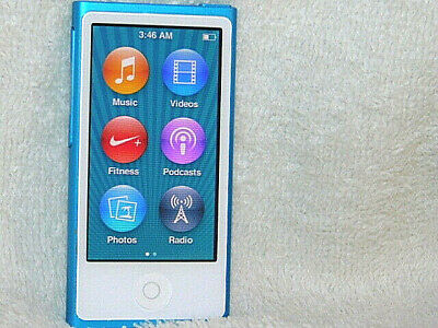 Apple iPod nano 7th Generation Blue (16 GB) 496 Songs