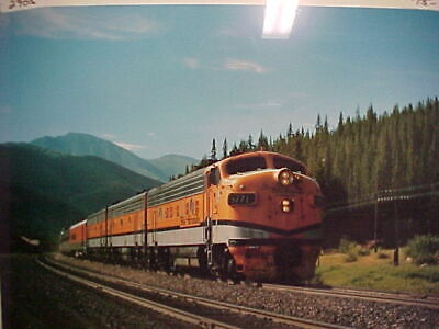 Railroad Art, Photo, Rio Grande Zephyr, C-1979, 16X20 incl border, new