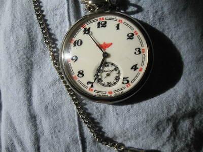 vintage Russian Molnija train pocket watch