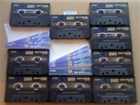 A2Z JL 9x TDK SA 90 CHROME CASSETTE TAPES 1997-2002 W/ CARDS CASES LABELS GUARANTEED GOODS FREE P&P