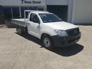 2011 Toyota Hilux Workmate White 5 Speed Manual Cab Chassis Newstead Brisbane North East Preview