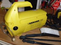 Karcher jet wash good working order with dirtblaster, brush, normal lance and detergent pipe