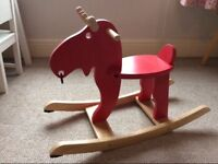 Ikea kids red rocking moose for toddlers