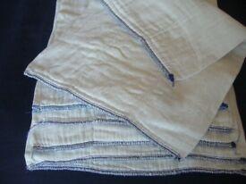 10 baby cotton bottoms Trifold Prefold cotton reusable nappies - southbourne