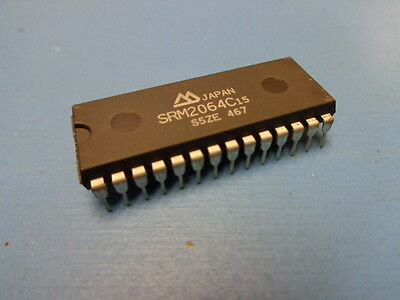 8192x8 Sharp CMOS Static RAM 28 PIN 6264 LH5164D-10L 100ns 2pc min $5.00ea