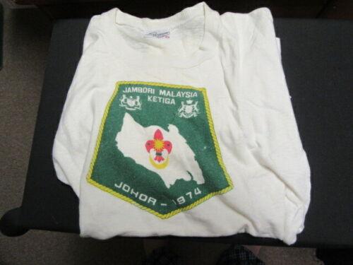 Malaysia 1974 Jambori Scout T-shirt   FX