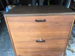 Wood Filing Cabinet -locking with key