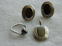 Hematite set in sterling silver (marked 925)