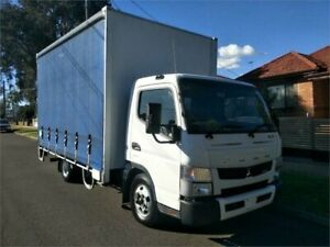 2015 Fuso Canter 615 White 6 Pallet Curtain Sides Lidcombe Auburn Area Preview