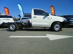 2013 Toyota Hilux KUN16R MY14 SR White 5 Speed Manual Cab Chassis Welshpool Canning Area Preview