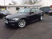 BMW 3 SERIES 2.0 318D M SPORT 4d 141 BHP FULL BMW SERVICE HISTO (black) 2009