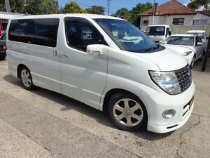 2007 Nissan Elgrand HIGHWAYSTAR NE51 Pearl White Automatic Sylvania Sutherland Area Preview