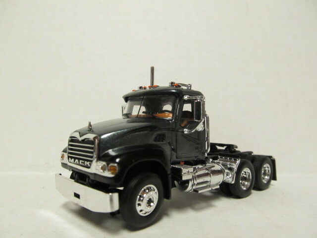 1ST GEAR 1/64 SCALE MACK GRANITE  DAY CAB  CHARCOAL & BLACK (SAME SCALE AS DCP)