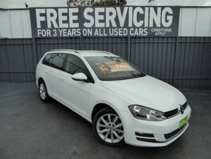 2014 Volkswagen Golf VII MY14 110TDI DSG Highline White 6 Speed Sports Automatic Dual Clutch Wagon Old Reynella Morphett Vale Area Preview