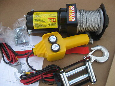 2,000 LB 24v Electric Winch *SPECIAL 24 Volt DC  commercial, golf cart, - 24v Electric Winch