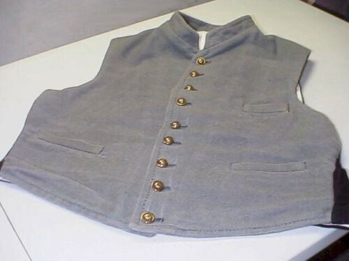 GRAY JEAN WOOL VEST. Size 46. Used. Tart Fabric