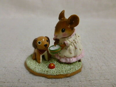 Wee Forest Folk Doggie's Dish Special Edition Pink M-357 Retired