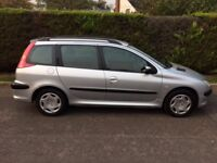2003 PEUGEOT 206SW 1.4HDI METALLIC SILVER EXCELLENT CONDITION