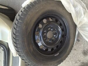 205/70R15  GT RADIAL  MINT SHAPE SET OF 4 TIRES AND BLACK OUT RI
