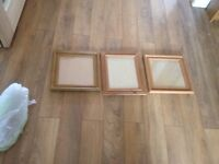 3x pine picture frames