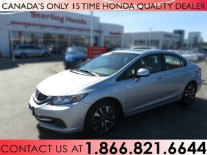 2013 Honda Civic EX | 1 OWNER | NO ACCIDENTS | LOW KM'S