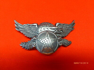 Belt Buckle Eagle Wings Stars and Stripes Americana Silver Metal Accessories 3 D