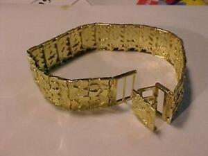 "FOR THAT BIG GUY 10K yellow gold Hand assembled bracelet 9+"" long -41.19 grams & 15/16"" wide!!Free shipping Canada only"