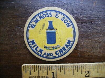 E. W. ROSS & SON VINTAGE MAVERICK MILK BOTTLE CAP LOT A-24