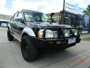 2002 Nissan Navara D22 ST-R Black 5 Speed Manual Dual Cab Williamstown North Hobsons Bay Area Preview