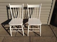Vintage Painted Solid Wood Chairs - $30