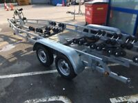 Indespension Super Roller Coaster 6.5 / 22 Twin axle boat trailer