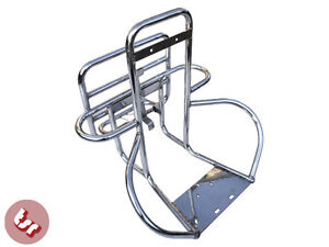 VESPA Stainless Rear Rack/Carrier/Wheel Holder Back Rest PX/LML/VBB 4in1