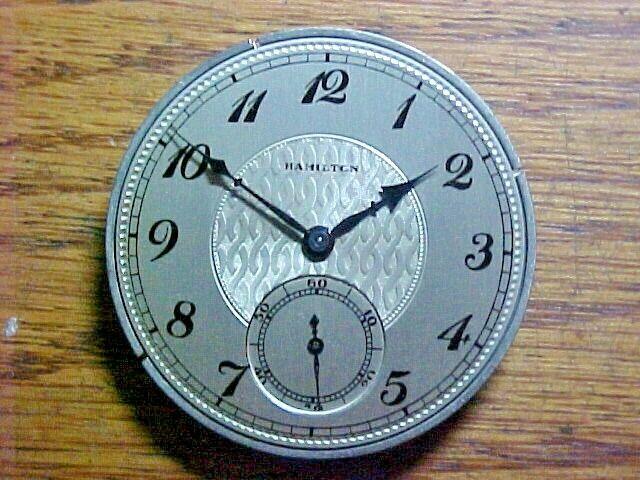 Hamilton 41MM 12S 17J 910 Fancy Dial Open Face Pendantset Nickel Movement - $12.00