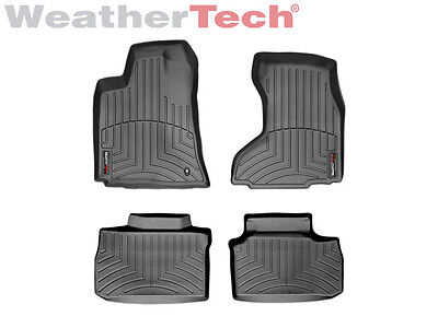(WeatherTech FloorLiner for Charger/Magnum/300 AWD - 1st & 2nd Row - Black)