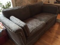 M&S 3 seater sofa with loose grey damask covers
