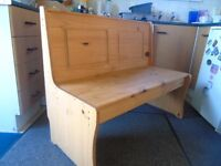 Church Pew Style Pine Bench