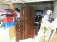WARDROBE, DRAWERS AND VANITY COMBINATION UNIT