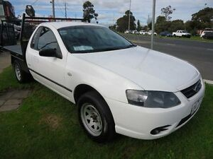 2006 Ford Falcon BF MkII RTV White 4 Speed Auto Seq Sportshift Cab Chassis Parkdale Kingston Area Preview
