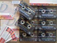 JL CHEAPEST ONLINE 8x TDK D 120 D120 CASSETTE TAPES 1997-2001 W/ CARDS CASES LABELS ALL VGC