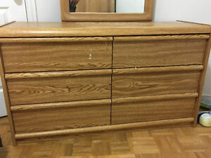 complete bed room set single mattress box head dresser mirror