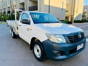 2012 Toyota Hilux TGN16R MY12 Workmate 4x2 White 5 Speed Manual Cab Chassis Maidstone Maribyrnong Area Preview