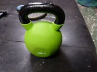 28kg Solid kettlebell rubberised base and bell, ex display