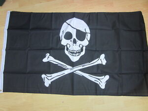 SKULL & CROSSBONES PIRATE 3ft x 2ft Flag ideal for parties,gardens, display