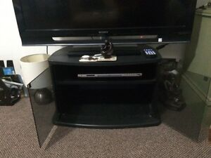 TV STAND UNIT Black Glass Broadbeach Gold Coast City Preview