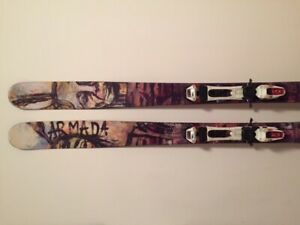 Downhill/touring skis + boots