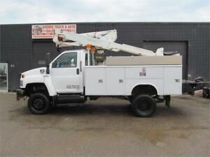 2008 GMC C5500 Altec AT37G Bucket Boom Trucks Duramax