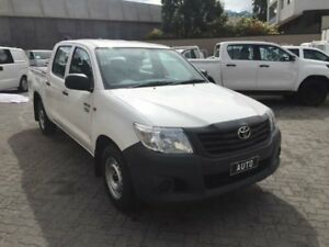 2014 Toyota Hilux TGN16R MY14 Workmate White 4 Speed Automatic Dual Cab Pick-up North Strathfield Canada Bay Area Preview
