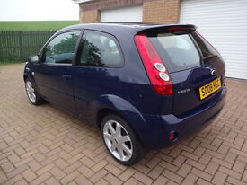 FORD FIESTA 08 PLATE, SPECIAL EDITION BLUE MODEL, ONLY 42K MILES, TWO OWNERS, 3 DOOR, YEARS MOT