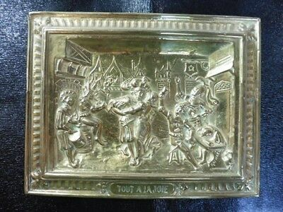 Plate Brass Regrowth Victorian Signed Raphael Brand at Joie