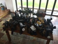 INCREDIBLE VIDEO CAMERA COLLECTION - 1960's to 1990's - 23 CAMERAS IN ALL.